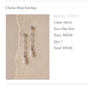 BHLDN Clarise Drop Earrings